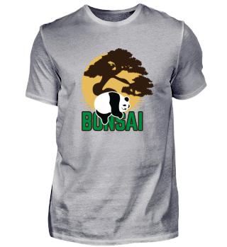 Bonsai Panda Japan Shirt Geschenk lustig