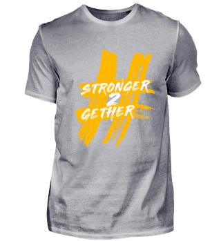 Hashtag T-Shirt Gelb/Gold