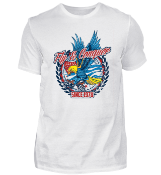 Fly and Conquer Eagle Design