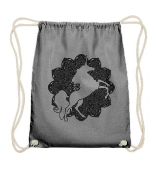 ♥ Vintage Mandala I Unicorn I - black