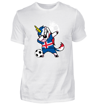 Iceland Unicorn Soccer Football Dab