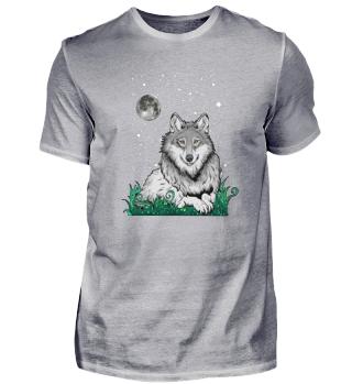 Wolf Fantasie Tier Mond