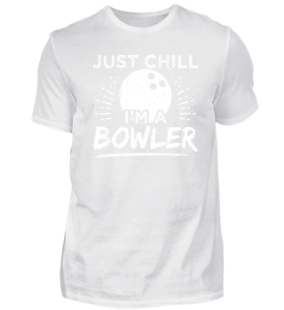 Funny Bowling Shirt Just Chill