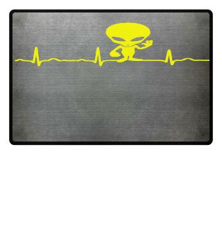 GIFT- ECG HEARTLINE ALIEN YELLOW