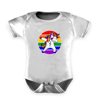 Dabbing Unicorn - Gay Pride Dab