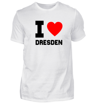 Geschenk Sachsen I Love Dresden