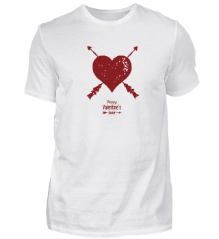 Valentine Day Red Heart with Arrows