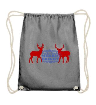 Merry Bright - Vintage Deers I