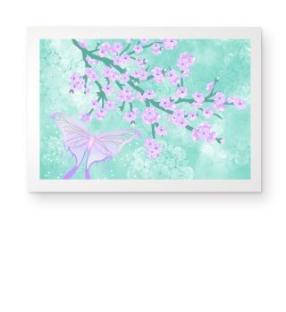 ★ Cherry Blossoms Butterfly Mandala 3a