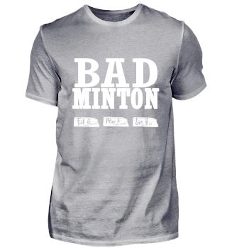 BADMINTON SHIRT - Spruch