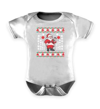 Ugly Christmas Santa Claus Gains Muscle