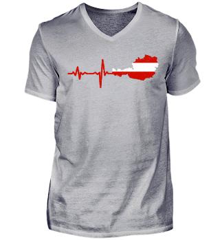 Heartbeat Austria silhouette gift
