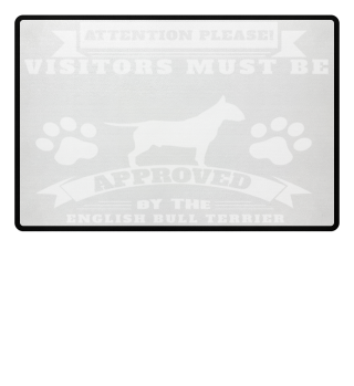 english bull terrier doormat