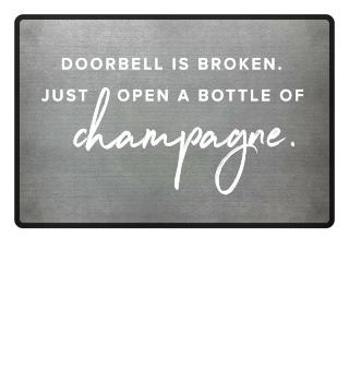 Doorbell broken - Champagner Fußmatte