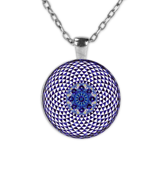 Handpan Fractal Mandala Blue Space
