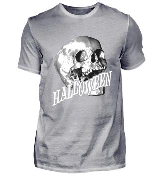 Pale Skull Lettering HALLOWEEN Gift