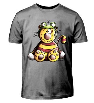 Katze im Froschkostüm