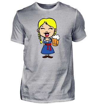 Oktoberfest Dirndl Girl Beer Mug Prost