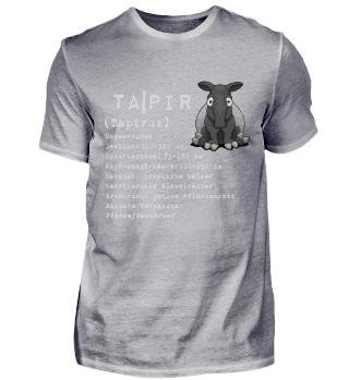 Tapir Facts Wissen Hintergrund Geschenk