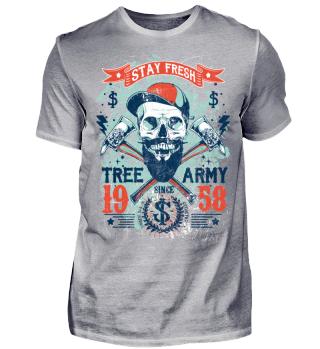 STAY FRESH - Cool Tree Army Lumberjack