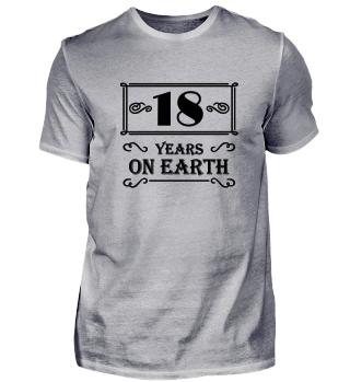 18 years on earth