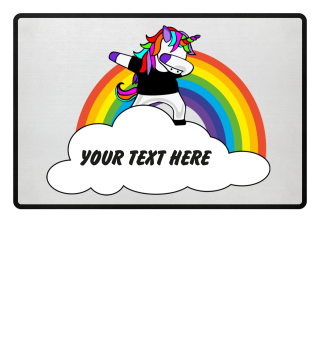 ★ Dabbing Rainbow Unicorn - Your Text 4a