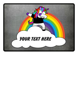 ★ Dabbing Rainbow Unicorn - Your Text 4a