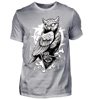 Herren Kurzarm T-Shirt Owl Ramirez