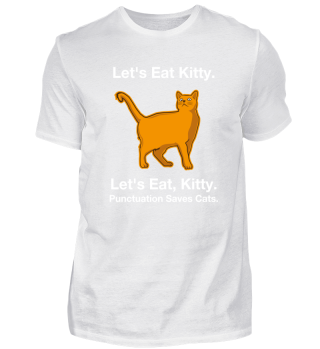 Punctuation saves lives cat shirt