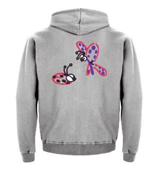 Schmetterling und Käfer butterfly bug