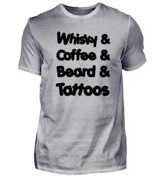 Whisky & Coffee & Beard & Tattoos Merch