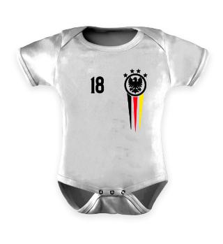 Cooler Baby Body - Deutschland Trikot Fussball 2018 Fan Weltmeister Geschenk Geburt Spieler Team Mannschaft