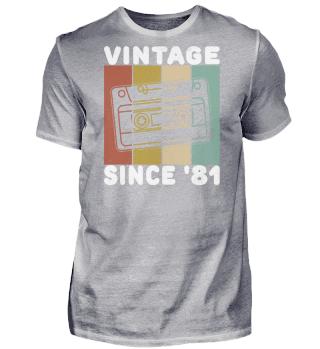 Retro Vintage 81 39 Geburtstag