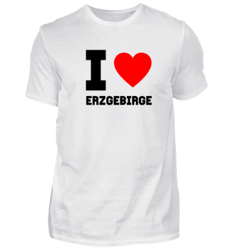 Geschenk Sachsen I Love Erzgebirge