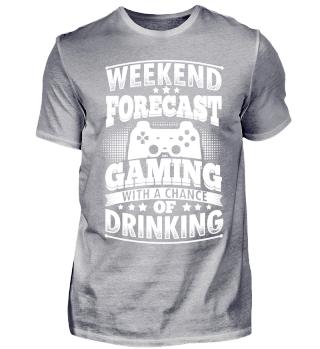 Funny Gamer Gaming Shirt Weekend