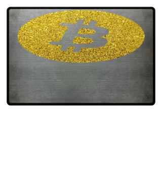 Bitcoin Krypto Fund Gold Glitter Shirt
