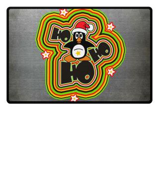 Christmas Ho Ho Ho - Santa Penguin
