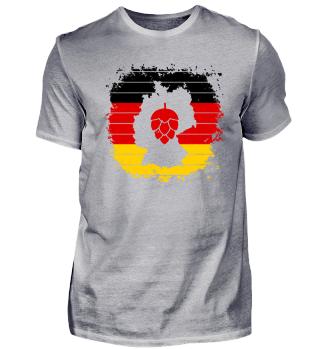 Hopfen Grunge Deutschland Karte Streifen