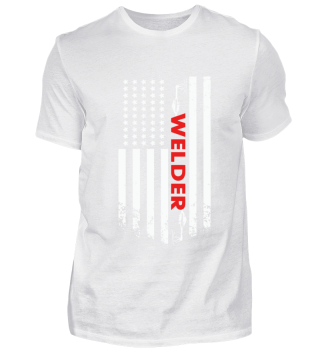 welder american flag