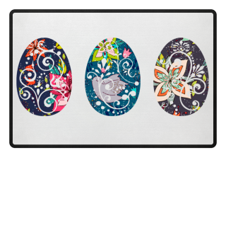 ★ Three Ornaments Easter Eggs grunge 2