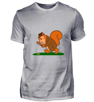 Eichhörnchen sucht Nüsse Herbst