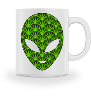 Ethnic Feather Mandala - Green Alien 1