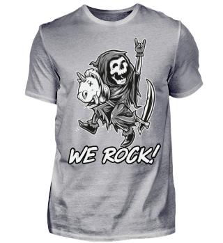 Einhorn Unicorn Reaper We Rock