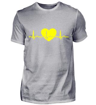GIFT - EKG HEARTBEAT YELLOW