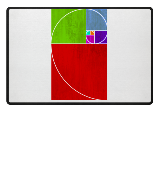 Fibonacci Spiral - colored grunge 1
