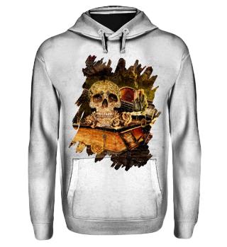 Steampunk Alchemist Magier Skull I