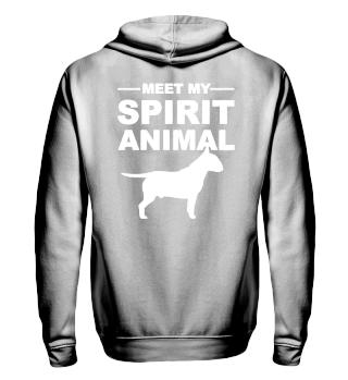 Meet Spirit Animal - bullterrier - white