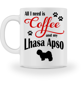 Coffee and my Lhasa Apso