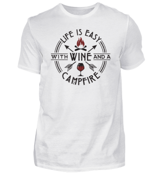 Funny Wine Campfire Camping Party Gift