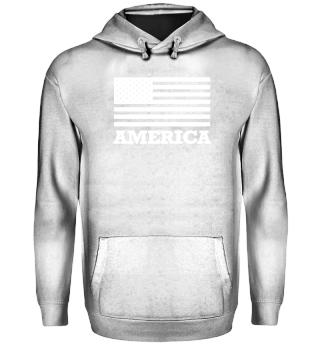 AMERICA stencil white